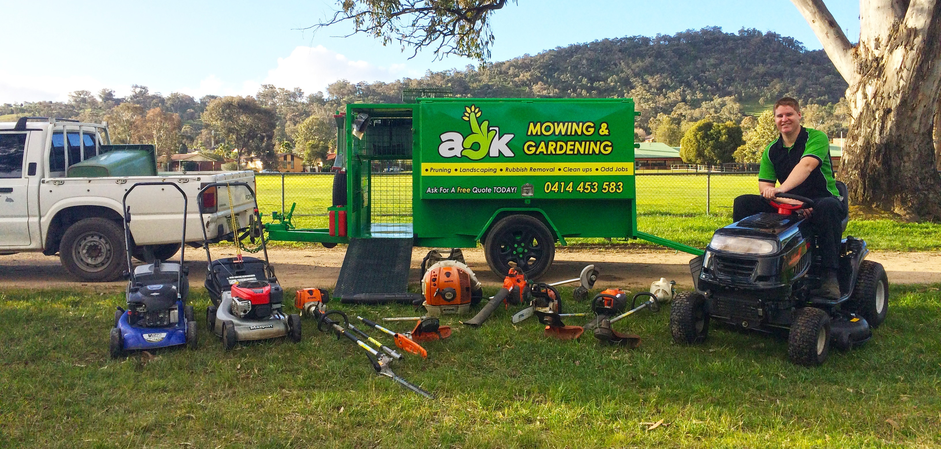 Aok mowing and gardening ipswich lawn mowing services for Lawn mowing and gardening services